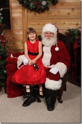 Emma and Santa 2013