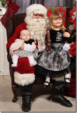 Emma & Brit with Santa 2011