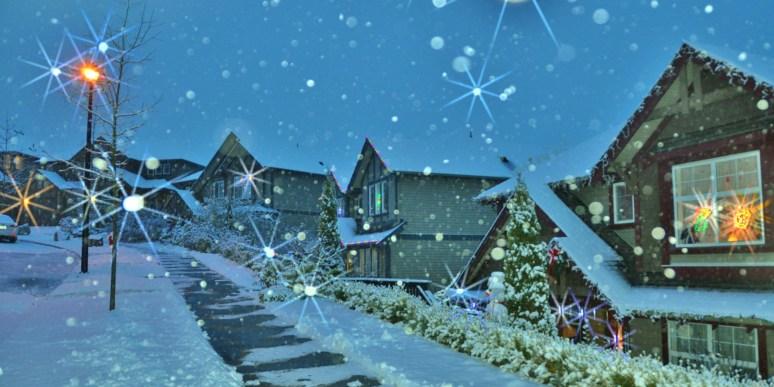 Kristen's subdivision @ Christmas 2013