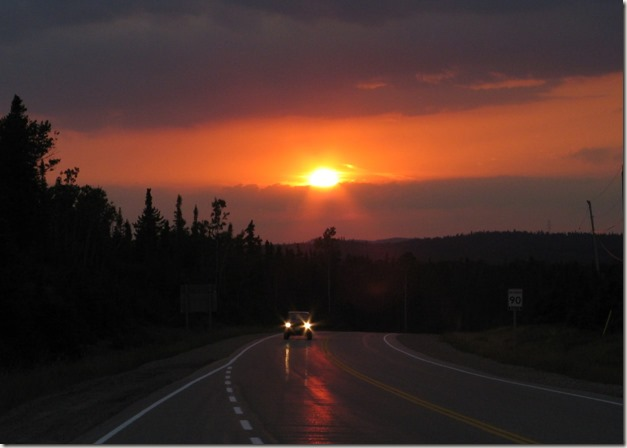 Sunrise on the TransCanada Highway
