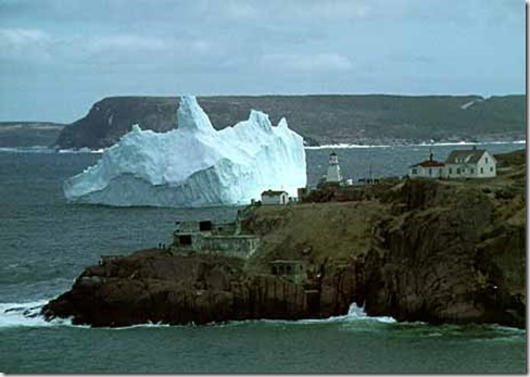 Iceberg off the coast of Newfoundland - google image