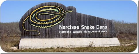 Narcisse Snake Dens sign