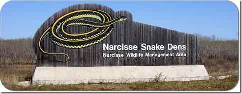Narcisse Snake Dens sign