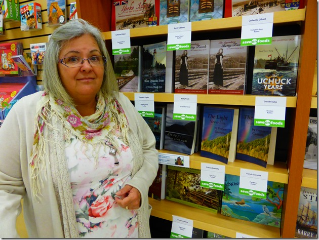 Fran & books at Save-On Foods - Witzel photo