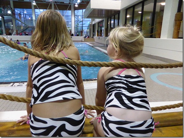 Emma & Brit at the pool - Guenette photo