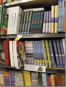 My books on the shelf at Overwaitea, Pt. Hardy