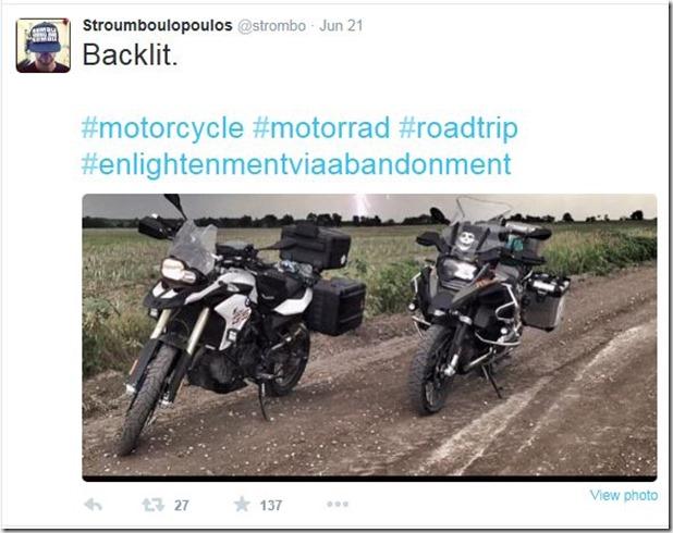 George tweet motorcycles
