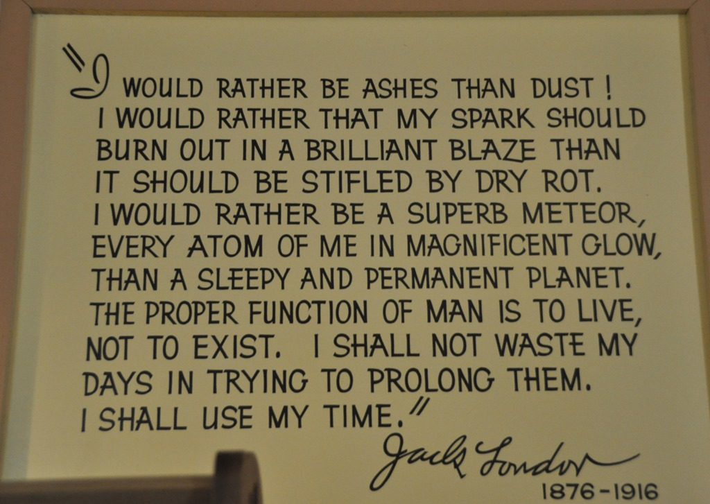 Jack London Quote Guenette P O