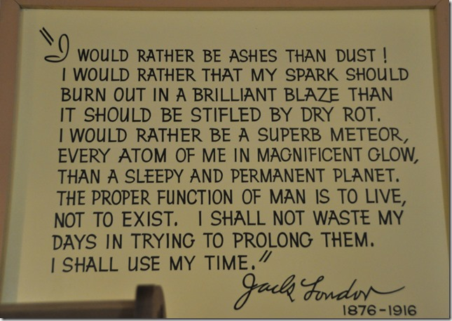 Jack London quote - Guenette photo