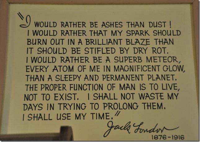 Jack London quote - Guenette photo