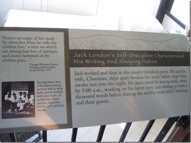 Jack London's sleeping porch - Guenette photo