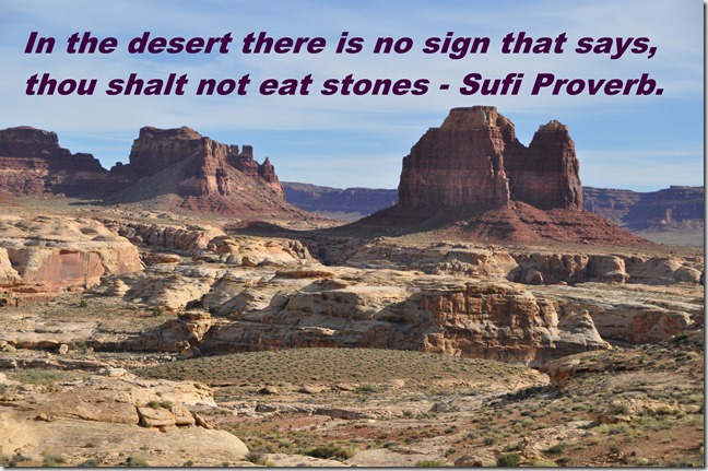Monument Valley with Sufi Proverb text