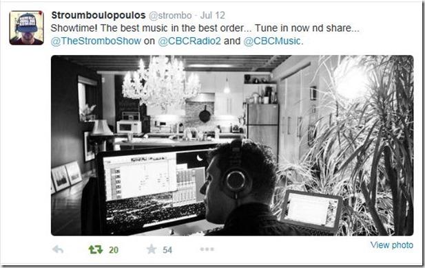 Strombo Show tweet