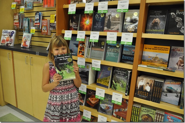 Emma in Save-On with Chasing Down the Night - Guenette photo