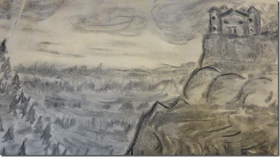 Pencil sketch - Casa Destino - June Guenette