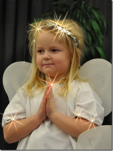 Britney as an angel - Christmas play 2015 - bruce witzel photo