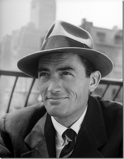 Gregory Peck in a fedora - google image