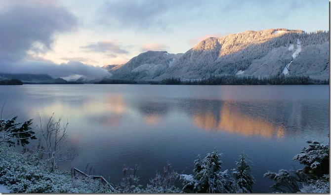 Winter scene at the lake - francis guenette photo