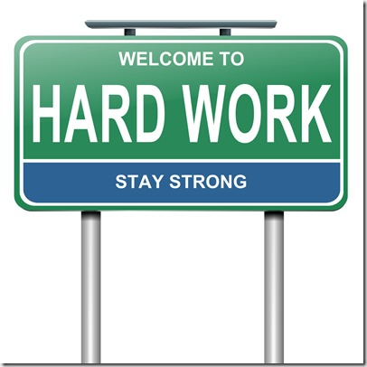 Hard Work Sign - goggle image