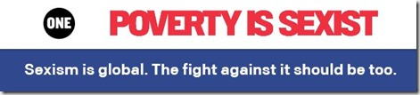 Poverty is sexist logo image