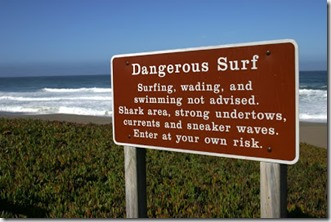 Dangerous waters sign - google images