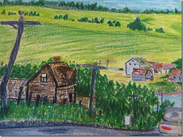 The Road to Aldeao - pastel work June Guenette