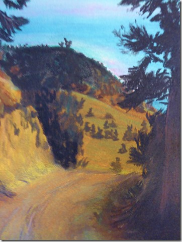 The road up to Casa Destion - chalk - Lorna Friesen