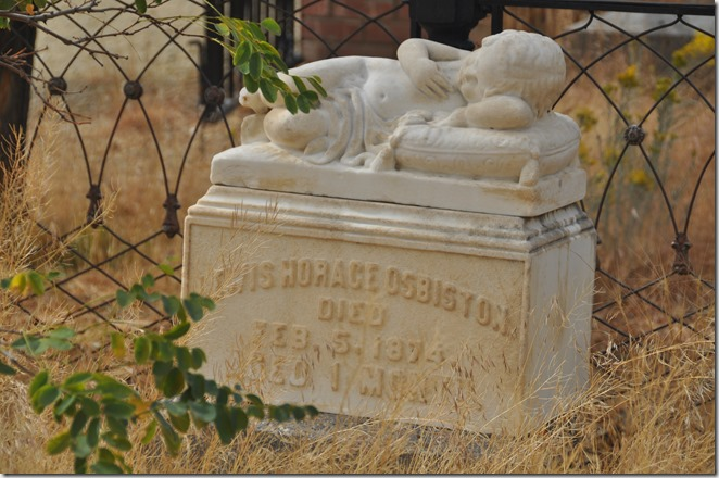 Child's grave stone