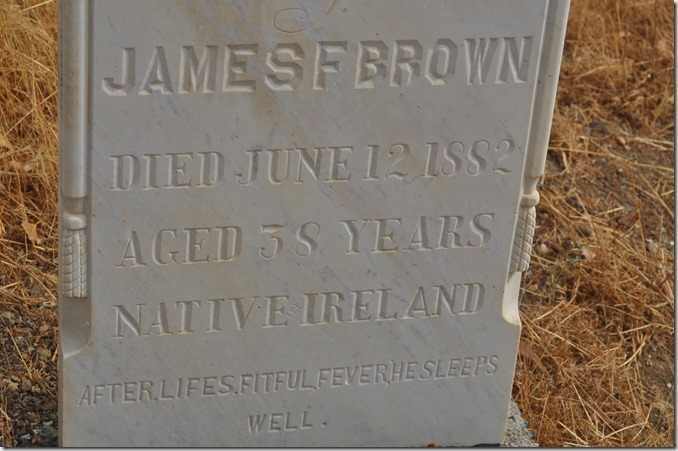 James F. Brown grave stone