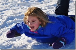 Emma sledding - Bruce Witzel photo