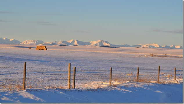 Rocky Mountains as seen from outskirts of High River, Alberta, Jan. 4, 2017 - bruce witzel photo