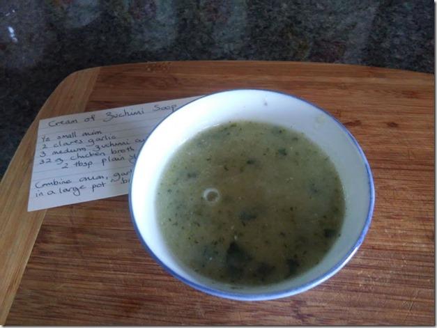 Zuchinni soup