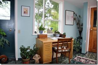 Desk in entry