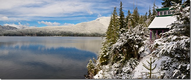 Good panorama of the lake and greenhouse, Feb15-2019 - bruce witzel photo