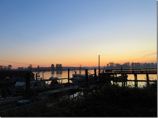 Sunset on the Fraser River